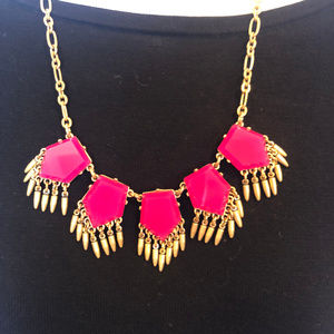 J. Crew Factory Hot Pink Statement Necklace